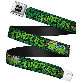 Children's Classic Teenage Mutant Ninja Turtles Seatbelt Buckle Belt (20-36
