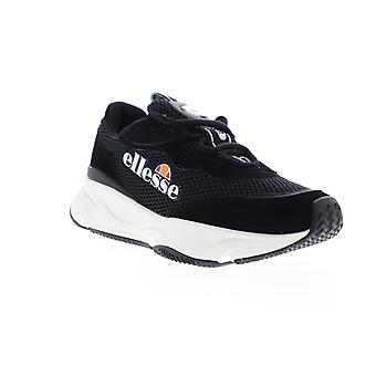 Ellesse Massello Text Mens Black Mesh Lace Up Low Top Sneakers Chaussures