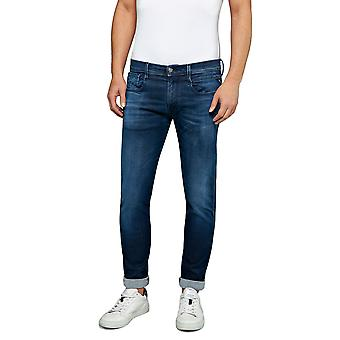 Replay Men's Anbass Jeans Hyperflex Clouds Slim Fit