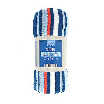 Country Club Blue and Red Stripe Beach Towel