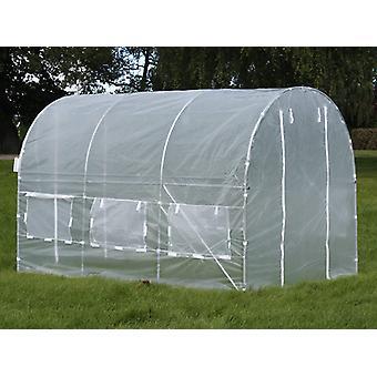 Polytunnel kasvihuone 2x3x2 m, 6 m², läpinäkyvä