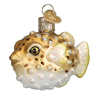 Old World Christmas Porcupine Fish Pufferfish Holiday Ornament Glass
