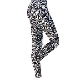 Silky Womens/Ladies Zebra Printed Fashion Leggings (1 Pair)