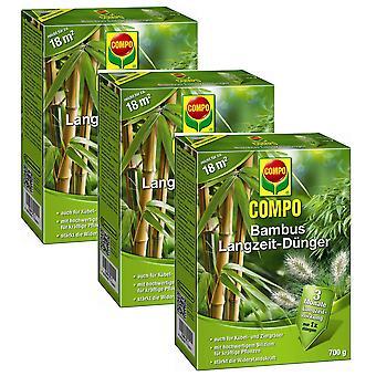 Sparset: 3 x COMPO Bamboo pitkän aikavälin lannoite, 700 g