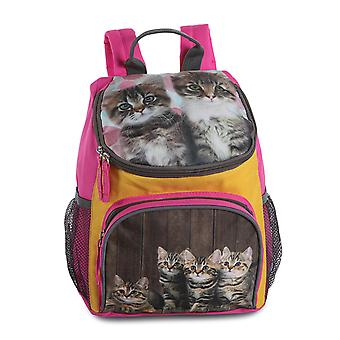 Fabrizio Kids AnimalMotif Girl Rugzak 31 cm, Cats Pink