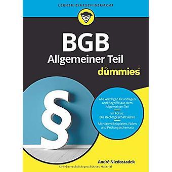 BGB Allgemeiner Teil fur Dummies by Andre Niedostadek - 9783527715695
