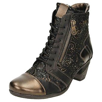Remonte TEX D8794-02 Leather Ankle Boots Low Heel Lace Up