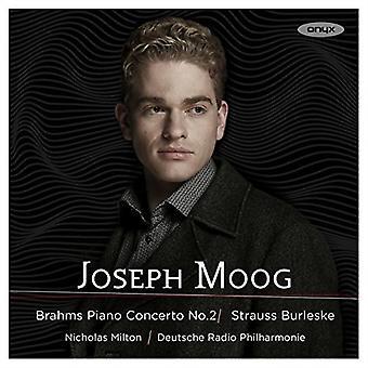 Brahms / Strauss / Moog, Joseph - Piano Concerto No 2 / Burleske [CD] USA import