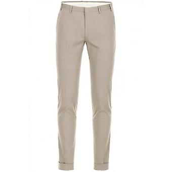 CC Collection Corneliani Grey Pleat Cotton Trousers