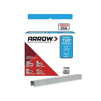 Arrow T50 Staples 10mm (3/8in) Box 1250 ARRT5038S