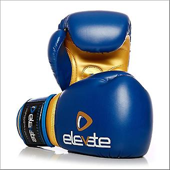 Elevate pu boxing gloves - blue gold