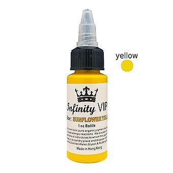 Professional Tattoo Pigment Inks Semi Permanent Dye - 7 Colors Natural Plant Black Body Art Paint