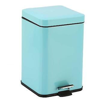 SOGA Foot Pedal Stainless Steel Rubbish Bin Square
