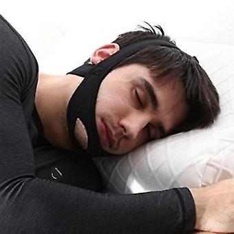 Neoprenové anti chrápání - Stop chrápání popruh pás, Anti Apnea čelist řešení, spánek