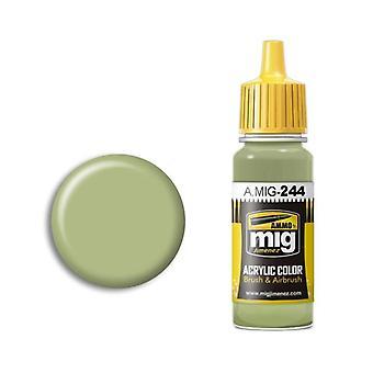 Migアクリルペイントによる弾薬 - A.MIG-0244ダックエッググリーン(BS 216)(17ml)