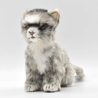 Plush - Hansa - Kitten (Grey/White) 8