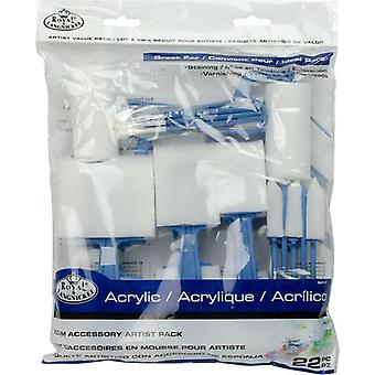 Royal & Langnickel Foam Accessory Artist Pack Assorted Set 22pc
