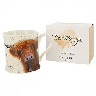 Fine China Mug with Cow Design - Boxed Gift