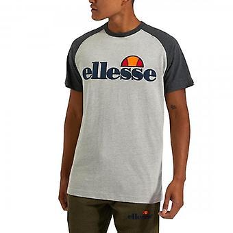 Ellesse Coper Crew Neck Raglan T-shirt Grey Marl