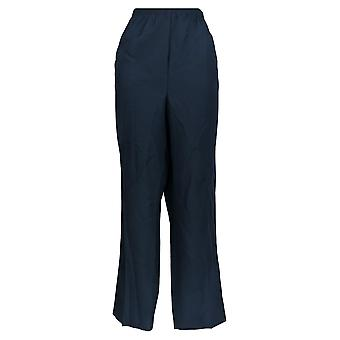 Alfred Dunner Women's Plus Pants Classic Navy Blue