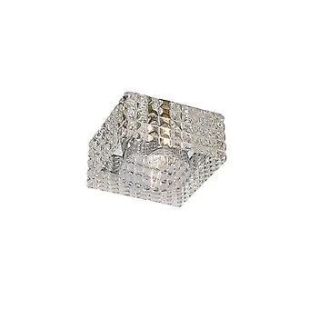 Geïnspireerd Diyas - Ria - Square Verzonken Downlight G9 Cube Patroon gepolijst chroom, kristal