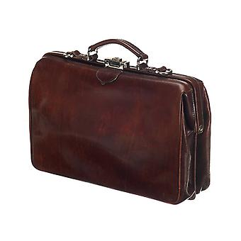 Leather Laptop Bag - The Classic - Dark Brown