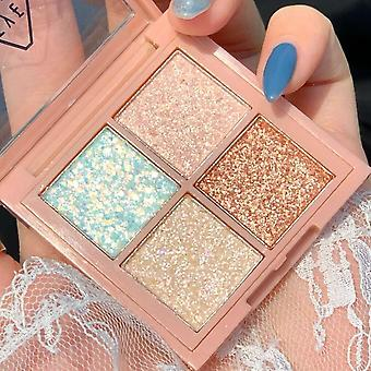 4 Colors Mashed Potato Sequins Eyeshadow Peach Blossom Mini Portable Palette