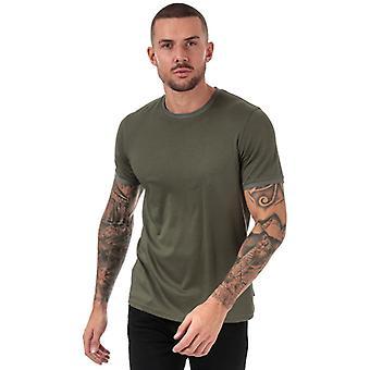 Män & apos;s Ted Baker Freygg Crew Neck Bomull T-shirt i grönt