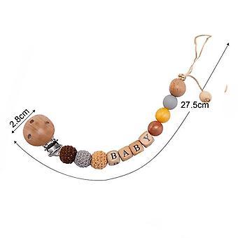 Trä Napp Chains Pärlor För Baby
