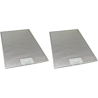 2 x Universal Cooker Haube Metall Fettfilter 283mm x 380mm