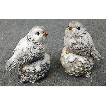 Pássaros em cone/acorn2-pack 12,5 cm