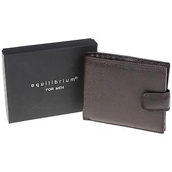 Men's Brown Faux Leather Wallet - Gift Boxed