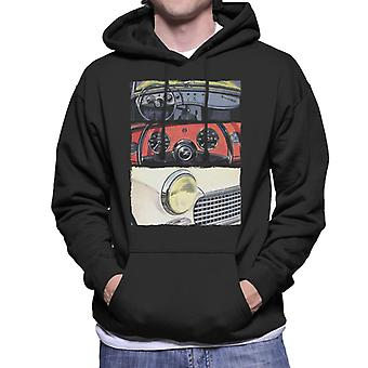 Austin Healey Montage British Motor Heritage Men's Hooded Sweatshirt