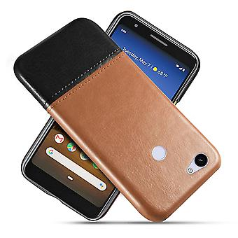 Leather Case for Google Pixel 3 Brown&Black kusiqi-84