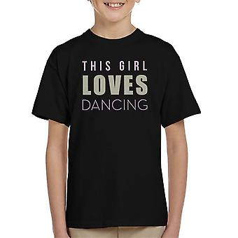 Strictly Come Dancing This Girl Loves Glitter Print Kid's T-Shirt
