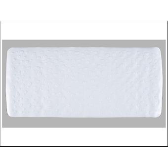 Home Label Contemporary Bath Mat White 95591
