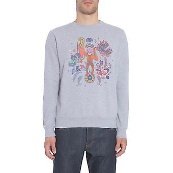 Paul Smith Ptpc677rp1090572 Men's Grey Cotton Sweatshirt