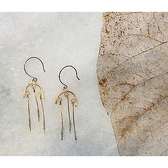Boucles d'oreilles Labradorite Golden Arch