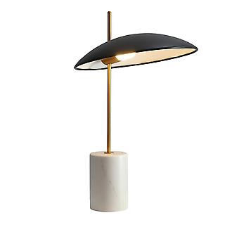 Lámpara de mesa LED moderna negro, oro, mármol, blanco cálido 3000K 400lm