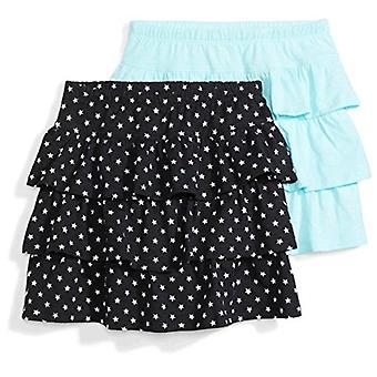 Zebra Big Girls&apos manchadas; 2-Pack Knit Ruffle Scooter Skirts, Stars/Turquoise, ...