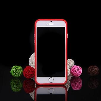 TPU+PC Protective Bumper Frame Shell Case for Apple iPhone 6 Plus Red
