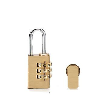 Padlock Suitcase Mini Security Tool, Digits Number, Pure Cooper Brass