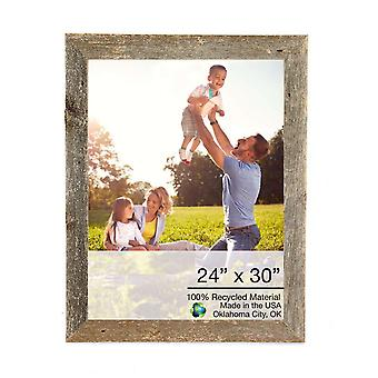 24 x 30 Natural Weathered Grey Picture Frame with Plexiglass Holder