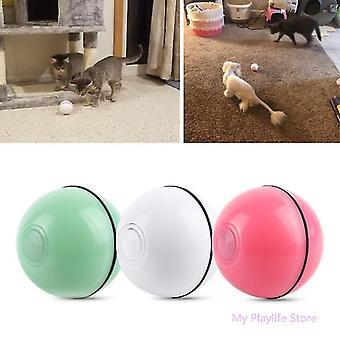 Pet Cat Toy Led Light Funny Cat Ball USB Carregando Smart Cat Toy Electric Rolling Ball Luminous Smart Cat Rolling Ball