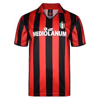 Score Draw Ac Milan 1988 Retro Football Shirt