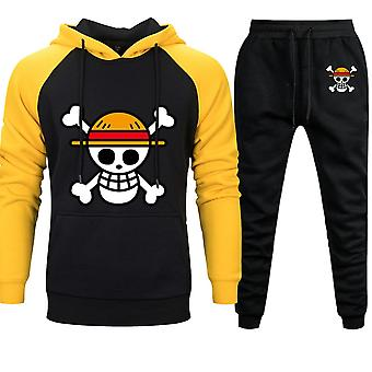 Pantalon sweat à capuche Mens Skull Luffy Hoody, automne/hiver Casual 2 Pieces