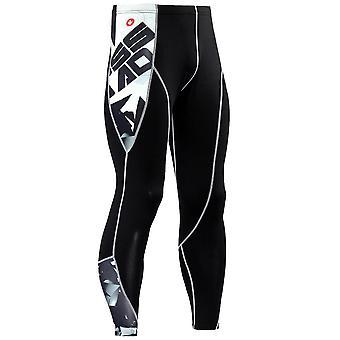 Mens Compression 3d Tulosta Quick Dry Skinny Leggings Sukkahousut Fitness Housut