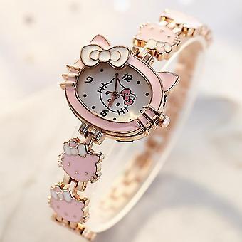 Lapset kellot Hello Kitty Naisten Clock's Söpö Sarjakuva