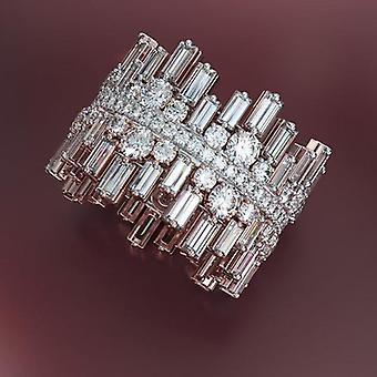 Paved Round Square Cubic Zirconia Wedding Jewelry Luxury Irregularity Shape