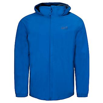 Jack Wolfskin Stormy Point Jacket Zip Up Hooded Coat Blue 1111141 1062